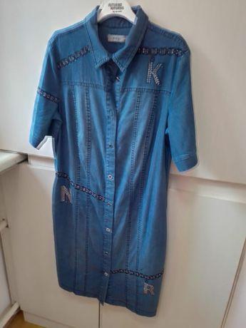 Новое джинсовое легкое платье сафарм