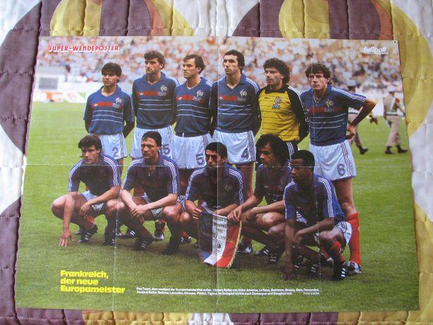 Postere cu echipe de fotbal a Frantei, Germaniei si Bayern Munchen