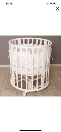 Кроватка 8в1 овальная