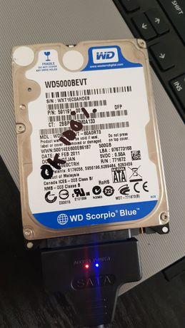 Hard disk HDD laptop WD Scorpio Blue 500 GB