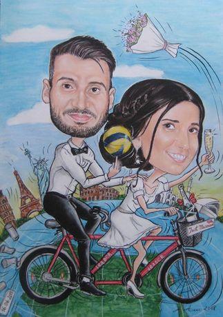 Рисувам карикатури за сватба