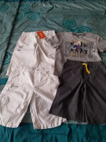 Шорты LC WAIKIKI, футболка с шортами ORCHESTRA на 7-8 лет.