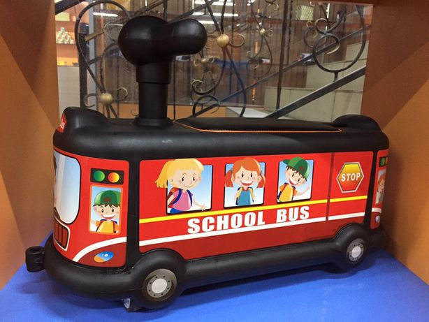 Качественный мультяшный автобус детский спиральный автомобиль 1-3 лет