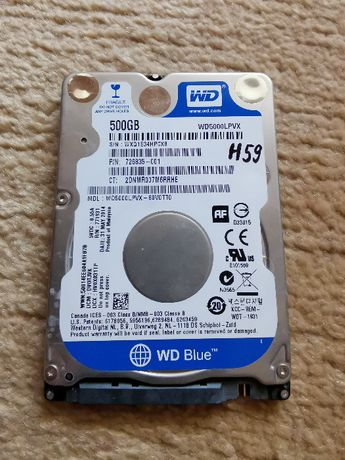 WD 500Gb Hdd Sata hard perfect fuctional +windows 10 Instalat