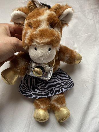 Плюшена играчка жираф фотограф