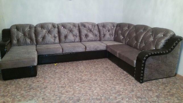 Большой угловой диван-конструктор