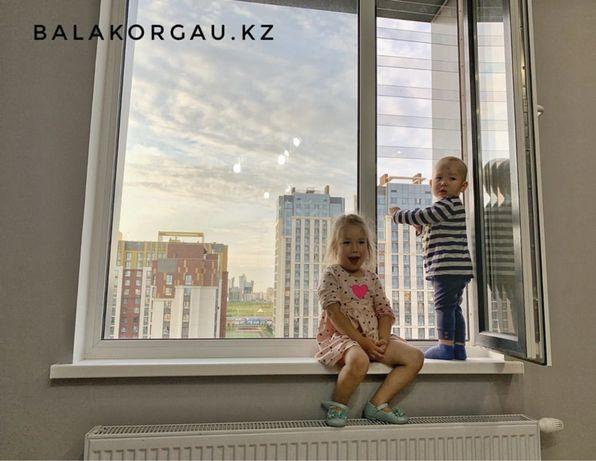 Прозрачные решетки на окна для детей