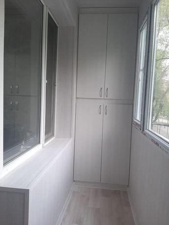 Ремонт балкона.Утепление и обшивка. Расширение балкона. Витражи .