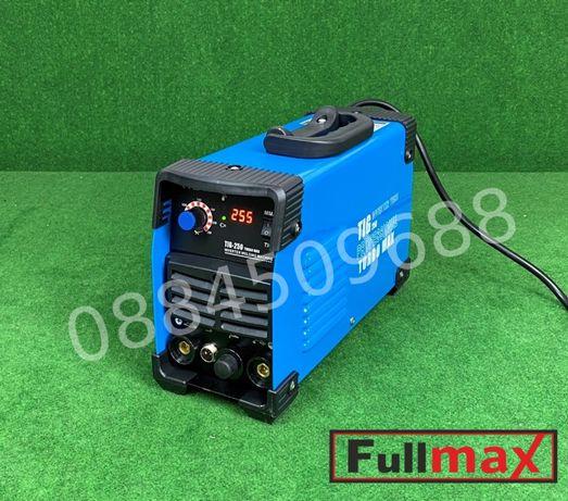 Професионален електрожен (инверторен) TIG MMA 250 ампера с 2г гаранция
