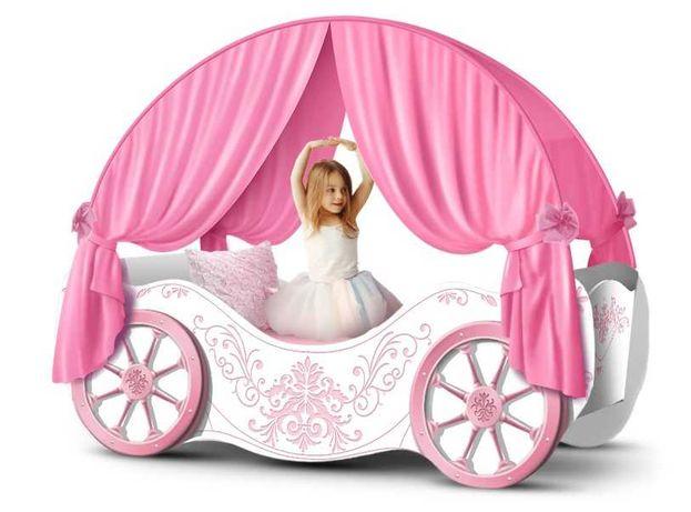 """Кровать Карета для девочек """"Винтаж"""""""