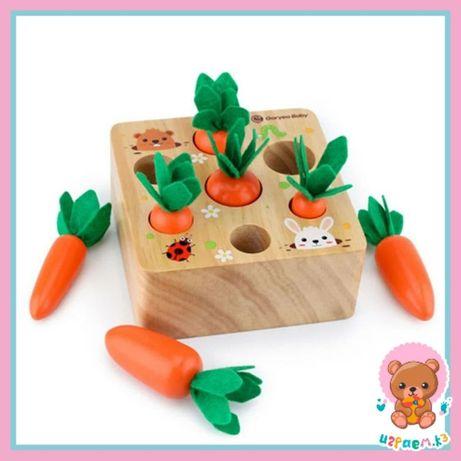 Развивающие игрушки. Сортер морковки. Новогодние подарки детям.