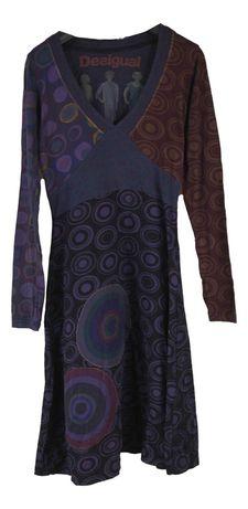 Rochie Casual Dama Desigual Marimea S Multicolora din Bumbac L68