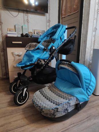 Детская коляска Lonex, пр-во Польша, 2 в 1, ВСЕСЕЗОННАЯ!