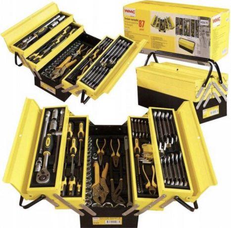 К-т инструменти  87бр WMC  в металнен куфар