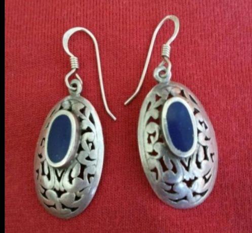 Cercei din argint de 925 anturaj Lapis Lazuli