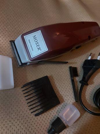 Электрическая машинка Moser работает от сети.Машинка для стрижки волос