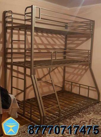 Прочная и устойчивая трехъярусная кровать  (двухярусная, двухъярусная)