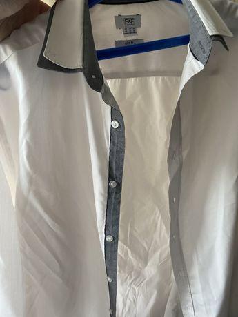 Белая рубашка с длинным рукавом
