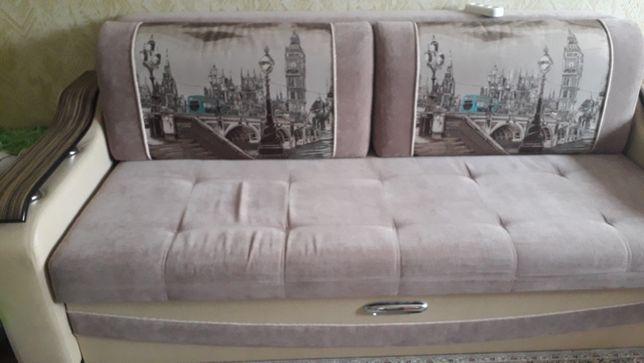 Продам диван кожа-велюр.