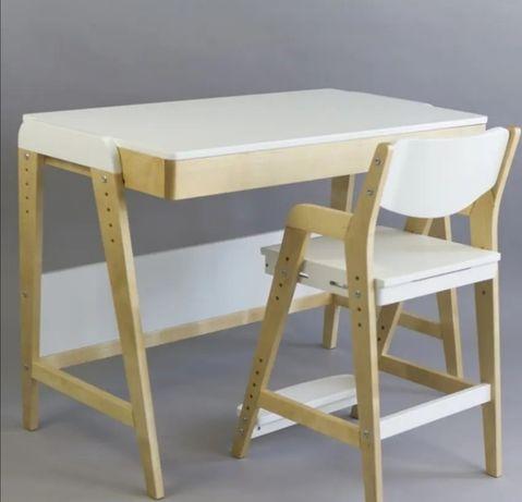 Растущий стол со стулом