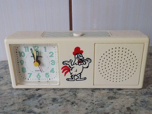 Ceas vintage quartz alarma cantatul cocosului