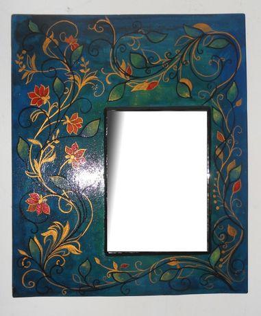 Oglinda cu rama pictata manual- Arabesque