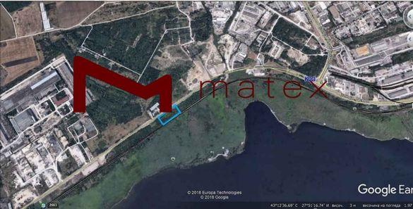 парцел с площ 3 Дка с лице 95 метра на крайезерния път- Кателиев