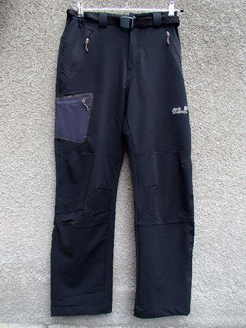 Продавам черен мъжки разтеглив пролетноесенен панталон Jack Wolfskin