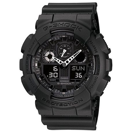 Ceas Sport Casio G-SHOCK GA-100 ALL BLACK-Negru (swatch fossil diesel
