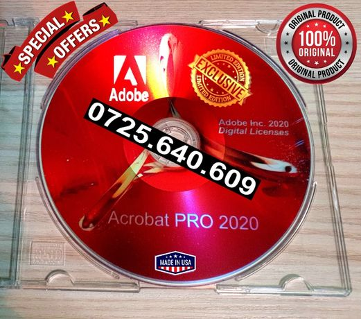 Adobe Acrobat PRO 2020 -Sigilat-Lic. Perma. VEZI TOATE ANUNTURILE MELE