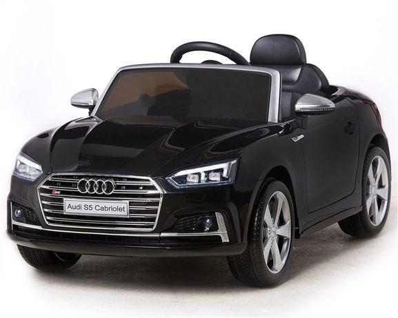Акумулаторна кола AUDI S5 CABRIO меки гуми кожена седалка