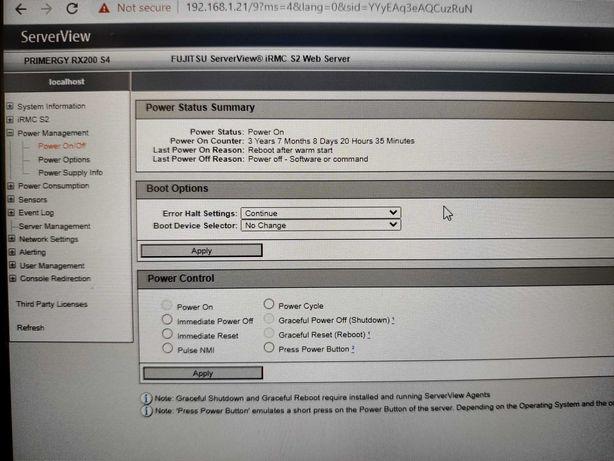 Server Rx200, 2x CPU E5405, 48GB RAM, 2x 500GB HDD, VMware ESXi 6.0