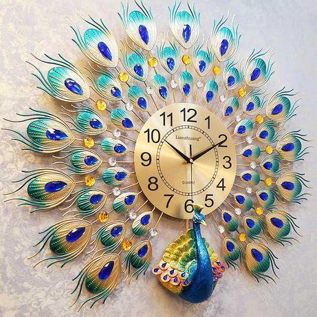 Шикарные настенные часы Павлин!Украсит ваш дом!Kaspi RED Рассрочка QR!