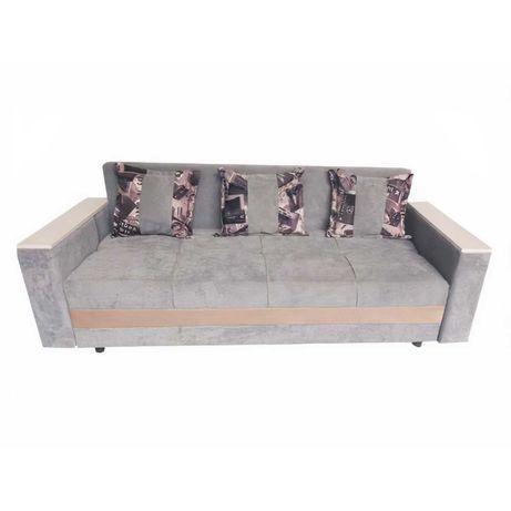 Раскладной диван | Цвет: серый | Доставка по Казахстану