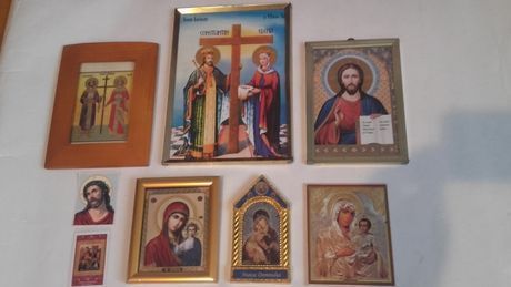 7 Icoane-Mantuitorul Iisus Hristos mare,veche anii'50-colectie