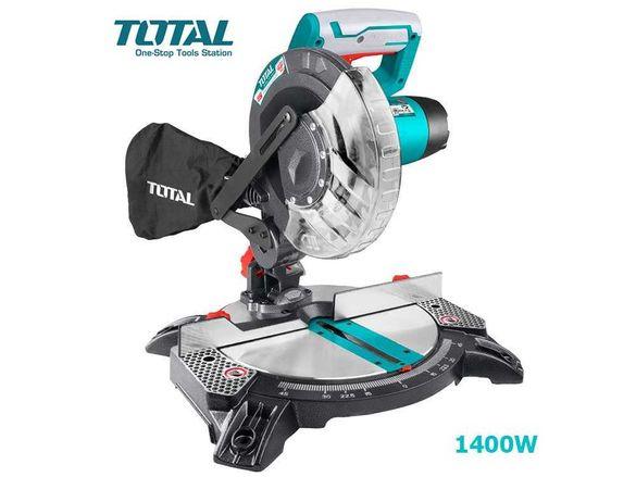 Циркуляр TOTAL TS42142101 настолен с герунг, 210мм, 1400W