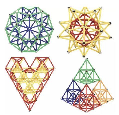 Set de Constructie Magnetic pentru copii si adulti, 200 piese