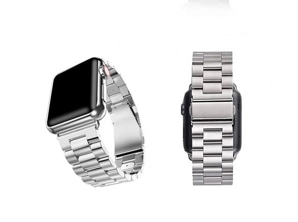 Метална гривна за iWatch 38, 40, 42, 44 mm - сива, Silver Apple watch