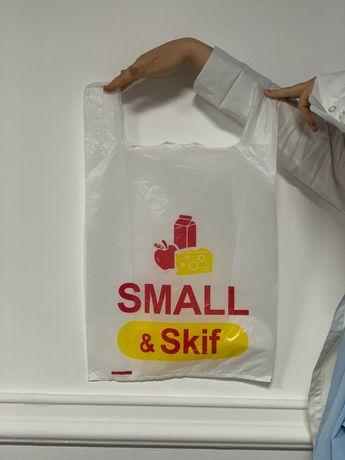 Пакет-майка с логотипом Низкие цены Бесплатная доставка!