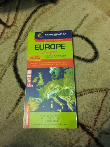 Harta Europa nouă