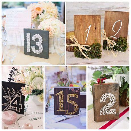 Табелки / номера на маси за сватба от дърво