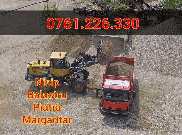 Vand Transport Nisip-Balastru-Pietris-Margaritar