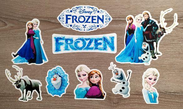 Замръзналото кралство СТИКЕРИ - 9 бр. (1 лист А4) Frozen Kingdom