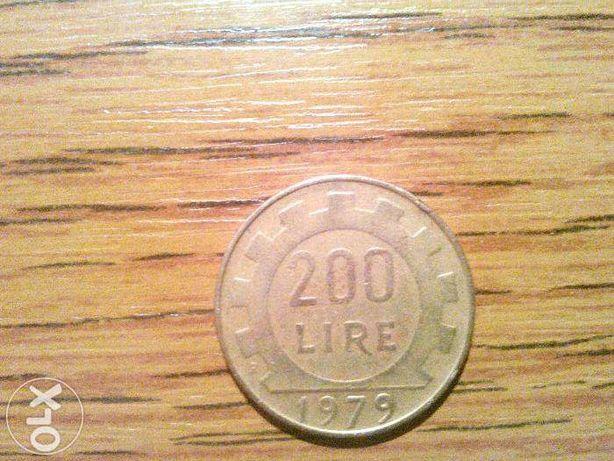 Moneda Italia 200 lire -1979