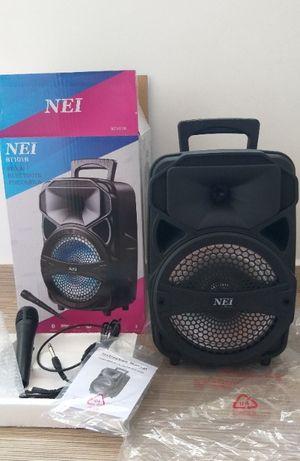 Boxa portabila NEI bluetooth USB MP3 FM AUX Microfon Karaoke Card LED