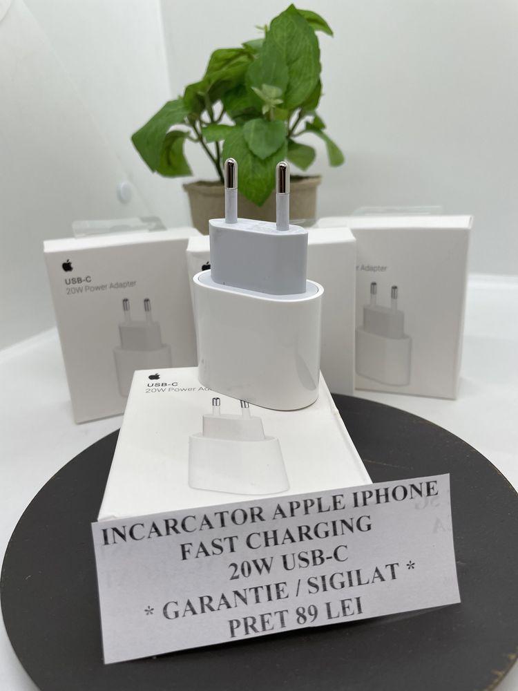 Amanet ROYAL : Incarcator Iphone Apple FAST/TypeC/20W/Sigilat/Garantie