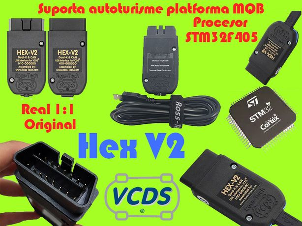 Tester Auto VCDS 21.3 Romana / Engleza 1:1 Original Procesor STM32F405