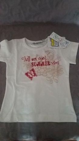 Vand tricou pentru fetite cu eticheta -2 ani