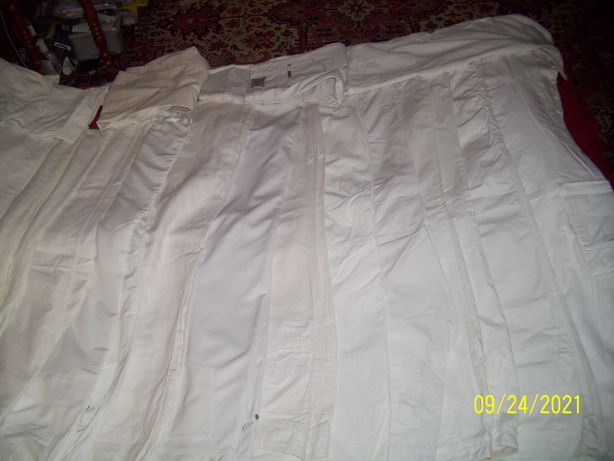 Lot pantaloni albi dama de firma 20 buc talie 85-88 cm