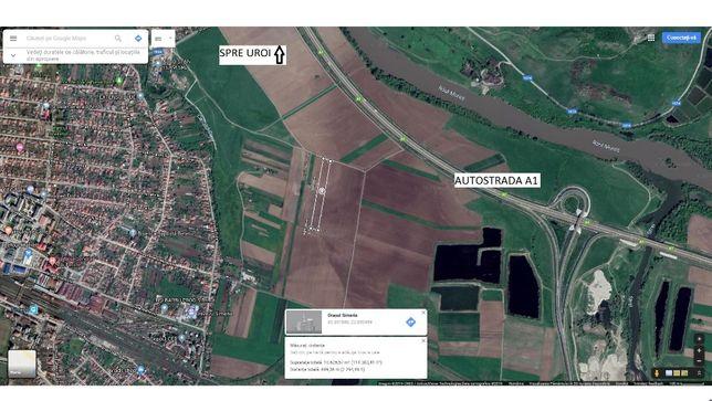 Vand teren Extravilan Simeria 1.07 ha